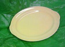 "Vintage LuRay Pastel Pale Yellow Platter 12"""