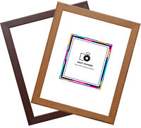 Wood Effect Picture Poster Frames 24X36 50X70 8X10  Various Sizes, Made In UK.