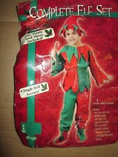 Boys Girls ELF  Halloween Costume standard size L Lg 12 - 14 Buddy Christmas