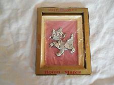 Vintage Disney room mates framed wall decor gray cat