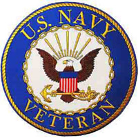 """""""UNITED STATES NAVY VETERAN""""   PATCH  Iron / Sew-on 12 inch Round patch 9029"""