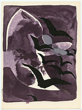 "Georges Braque lithograph ""Nightbirds"""