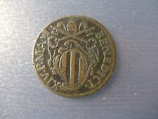 ESTADOS PAPALES - PONTIFICIO - VATICANO FERRARA BENEDICTO XIV 1/2 BAIOCCO 1747