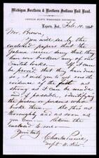 1862 Laporte In - Michigan Southern & Northern Indiana Rail Road - Letter Head