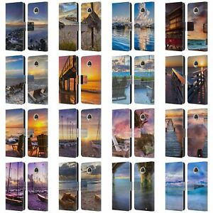 CELEBRATE LIFE GALLERY BEACHES 2 LEATHER BOOK WALLET CASE FOR MOTOROLA PHONES