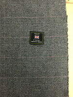2.5 Metres Grey Prince Of Wales Checked 100% Wool Suit/Jacketing Fabric