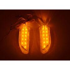 2 Pc 13LED Bendable Car SUV Side Mirror Turn Signal Lights yellow Indicator Lamp