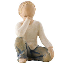 Willow Tree Inquisitive Child Figurine Boy 26227 in Branded Gift Box