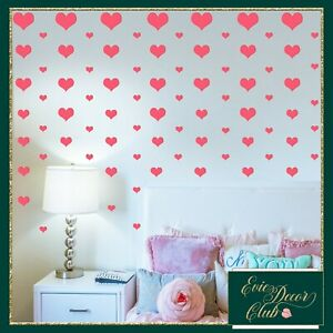 Vinyl Decals Heart Wall Stickers Room Decor Nursery decoration Metallic-21colour