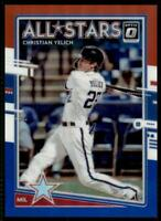 2020 Donruss Optic All Stars Red White and Blue #198 Christian Yelich /150