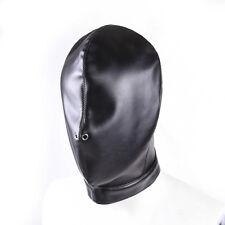 Couple Game Leather Hood Mask Blind Sensory Deprivation Restraint Leather Mask