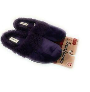 Dearfoams Clog Slipper Womens Velour Pile Memory Foam Purple Size XL 11-12