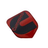1x New Cummins Front Grille Head Emblem Badge 3D Logo Sign Nameplate Black Red