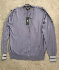 Mens Fila Gold Grey Cardigan in Lilac