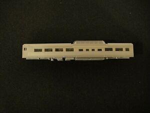 N scale Kato Corrugated Zephyr Passenger Dome coach body shell. No Trucks