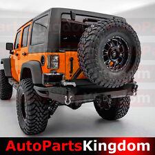 07-17 Jeep JK Wrangler Full Width HD Rear Bumper+Tire Carrier+Double Wrap-Plate