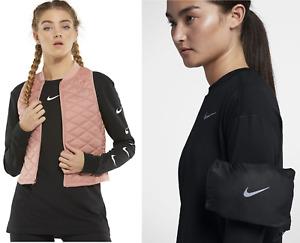Nike Mujer Aerolayer Atletismo Chaleco Plegable Repeler Bolsillos con Cremallera