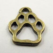 Antique style bronze tone puppy footprints pendants jewelry finding 90pcs