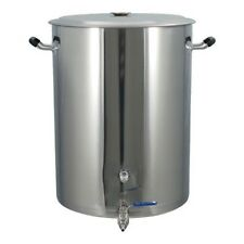 25 Gallon Brewmaster Stainless Steel Brew Kettle 2 Ports Beer Wine Moonshine