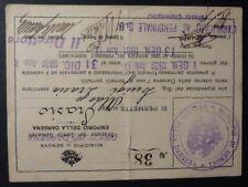 TESSERA  - DARSENA GENOVA - PERMESSO FORNELLI - 1931
