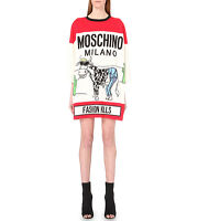 FW16 MOSCHINO COUTURE Jeremy Scott Cigarette Box Cow Fashion Kills Tshirt Dress