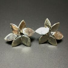 Leaf shaped Stud Earring, Nature Silver Jewellery, 925 Sterling Silver Gift