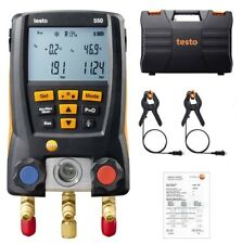 Testo 550 Refrigerant Digital Manifold Tester + 2 Clamp Probes For 0563 1550
