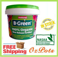 6x B-green Organic Garden Fertiliser Slow Release 600g