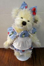 Annette Funicello 14 inch Bear In A Blue Dress with Cherries