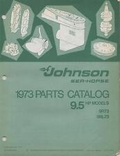 1973 JOHNSON SEA-HORSE OUTBOARD 9.5 HP P/N 386132 PARTS MANUAL (529)