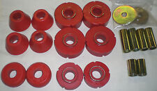 67-72 Chevy GMC 1/2 Ton 2wd RED Truck Poly Cab Mount Kit & Core Support