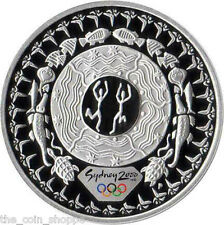 TWO DANCING FIGURES DREAM CIRCLE 2000 SYDNEY OLYMPICS 1 oz Pure Silver Coin