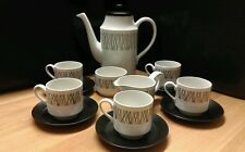 "** RARE EDITION ** Midwinter ""Graphic"" Coffee Set. Designed by Jessie Tait"