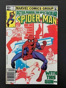 SPECTACULAR SPIDER-MAN #71  MARVEL COMICS 1982 VF NEWSSTAND