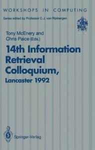 14th Information Retrieval Colloquium: Proceedings Of The Bcs 14th Informatio...