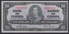 1937 BANK OF CANADA $10 DOLLAR BC-24b X/D 4321612 GORDON TOWERS GEM UNC NOTE