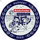 "KNICKERBOCKER RUPPERT BEER 11.75"" ROUND METAL SIGN"