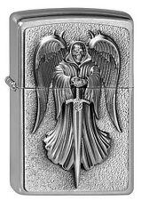 ZIPPO Feuerzeug DEATH ANGEL mit Emblem Brushed Chrome Todesengel NEU OVP