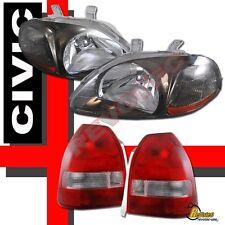 96 97 98 Honda Civic 3Dr Hatchback JDM Gunmetal Headlights & Tail Lights