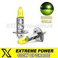 H1 448 Nebbia Anteriore Lampada Lampadine 100W Alta Potenza Oro Yellow 3000k Per