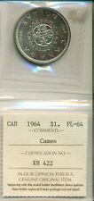 ICCS CAN 1964 $1 PL-64 Cameo KH 422