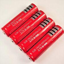 4 x Lithium Ionen Akku 3,7 V Li  - ion 6800 mAh 18650 Modellbau 65 x 18 mm rot