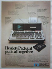 11/1981 PUB HP HEWLETT PACKARD HP-85 PERSONAL COMPUTING SYSTEM ORIGINAL AD