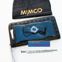 BNWT RRP$269 MIMCO Wallet Clutch Black Patent Leather w/dust bag
