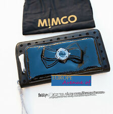 BNWT MIMCO RRP$269 Bow XL Wallet Clutch Black Patent Leather w/dust bag