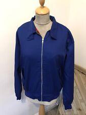 Blue Harrington Jacket Size L Chest 46 Skinhead Rockabilly New With Tags