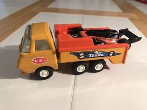 Tiny Tonka Race Car Hauler With Car