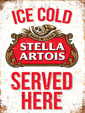 Stella Artois Retro larger METAL SIGN 2 Sizes Available ideal for pub Man Cave