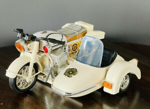 Vintage Honda Police Motorcycle and Sidecar Tin  Toy Friction Japan Rare