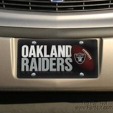 Oakland Raiders PRINTED Deluxe Acrylic Laser License Plate Tag Football